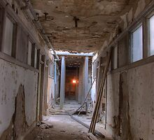 Sunsetting in abandoned bank by DariaGrippo