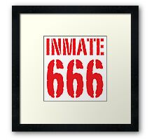 Inmate 666 funny Halloween costume Framed Print