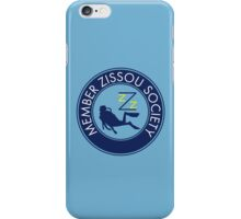 Member Zissou Society (Blue) iPhone Case/Skin