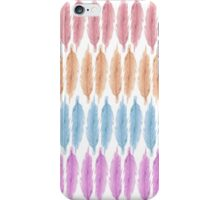 Girly Pink Hand Drawn Watercolor Feathers Pattern iPhone Case/Skin