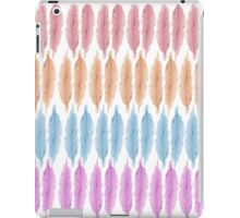 Girly Pink Hand Drawn Watercolor Feathers Pattern iPad Case/Skin