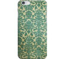 Vintage Green White Floral Damask Pattern iPhone Case/Skin