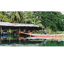 Long Tail, River Kwai, Thailand Photographic Print
