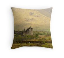 Castle in Scotland Throw Pillow