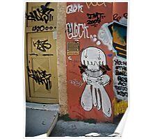 Greek Graffiti Poster