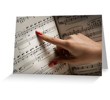 Musical Fingers Greeting Card