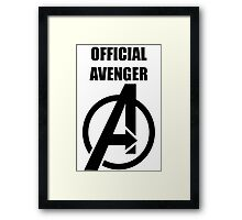 Official Avenger Print Framed Print