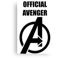 Official Avenger Print Canvas Print