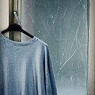 Hanging T-shirt and broken window pane by Silvia Ganora