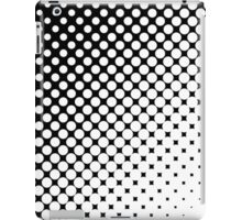 Moderm Abstract Black & White Polka Dots Pattern iPad Case/Skin