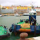 embarcação no porto de lisboa. jumping off the boat by terezadelpilar~ art & architecture