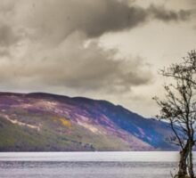 North East along Loch Ness from General Wade's military road Sticker
