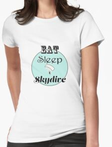 Eat Sleep Skydive Womens Fitted T-Shirt