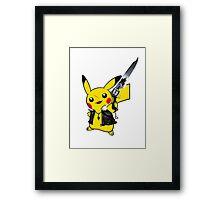 Pikachu cosplay FF8 Framed Print