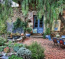 Lavande Courtyard by Barb Leopold