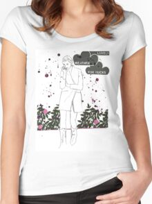 Lovely weather Women's Fitted Scoop T-Shirt