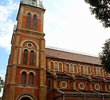 Notre Dame Cathedral - Ho Chi Minh city, Vietnam. by Tiffany Lenoir
