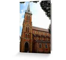 Notre Dame Cathedral - Ho Chi Minh city, Vietnam. Greeting Card