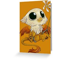 gryphon hatchling Greeting Card