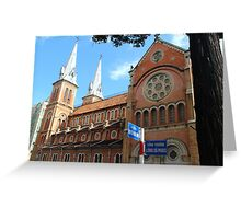 Notre Dame Cathedral II - Ho Chi Minh city, Vietnam. Greeting Card