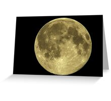 Full moon in Halkidiki, Makedonia, Greece Greeting Card