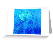Single Tulip in Blue Greeting Card
