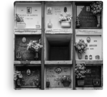 Grave Wall Canvas Print