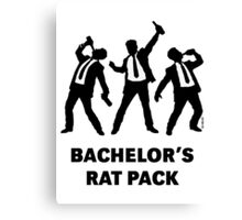 Bachelor's Rat Pack (Stag Party Groom Team / Illu) Canvas Print