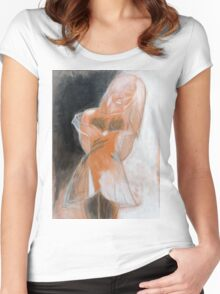 EMILY (ORANGE) Women's Fitted Scoop T-Shirt