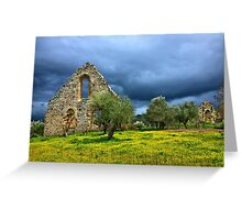 Gothic traces in Greece Greeting Card