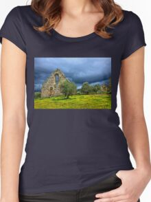Gothic traces in Greece Women's Fitted Scoop T-Shirt