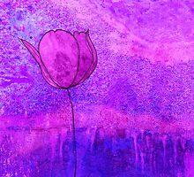 Single Tulip in Purple by jripleyfagence