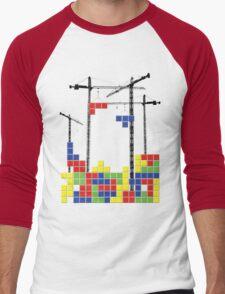 Tetris Skyline Men's Baseball ¾ T-Shirt