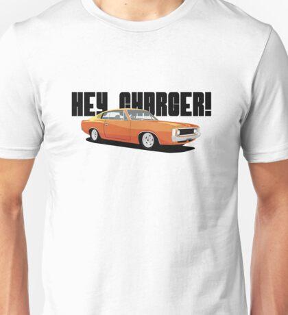 HEY CHARGER - ORANGE Unisex T-Shirt