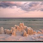 Sunset Over Sand Castle    Florida Beach by ChrisBaker