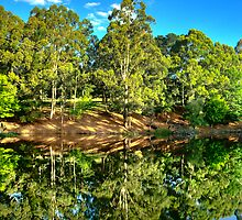 Marysville Reflections - Marysville , Victoria Australia - The HDR Experience by Philip Johnson