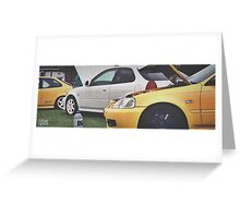 Honda Civic EKs Greeting Card