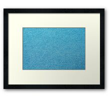Texture denim cloth Framed Print