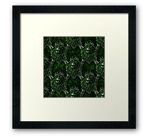 Green Man Medieval water Spout Pattern Framed Print