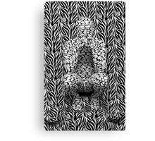 Abstract on Zebra Two Canvas Print