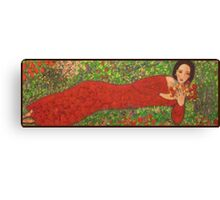 """""""Red  Sandals and  Pomegranates"""" Canvas Print"""