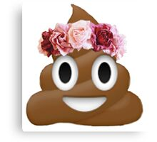 flower crown poop emoji hipster tumblr Canvas Print