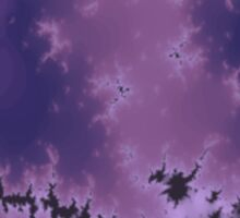 Purple Explosion Abstract Design Sticker