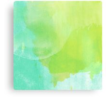 Green and Blue Watercolor Canvas Print
