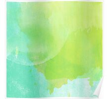 Green and Blue Watercolor Poster