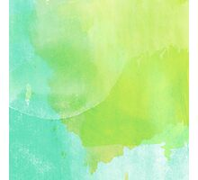 Green and Blue Watercolor Photographic Print
