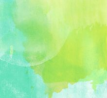 Green and Blue Watercolor by BuzzEdition