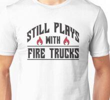 Still plays with fire trucks Unisex T-Shirt