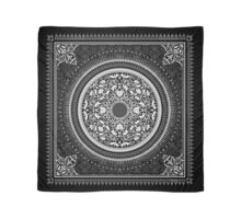 Indigo Home Medallion - White Scarf