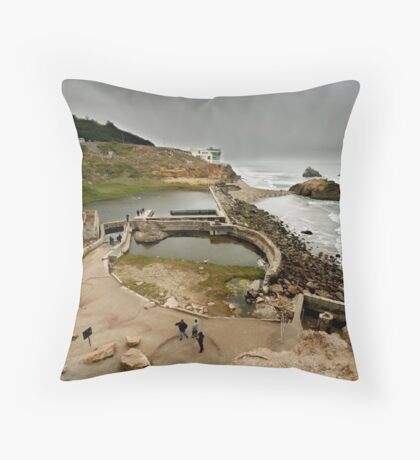 The Sutro Baths Throw Pillow